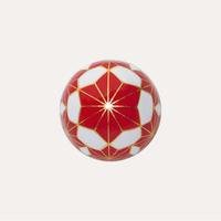 截金 彩色 白「麻の葉」ピンブローチ