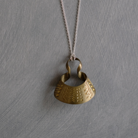 bobo (S) brass necklace -aborigine-