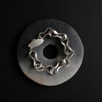 Black moor (M) 7twist Silver Bracelet