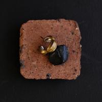 アサツキのつぼみ S brass earcuff