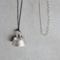 bobo (S) silver necklace -無地-