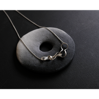 Black moor (S) 3 twist Silver Necklace
