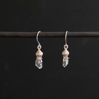 フタバアオイ silver pierce (水晶) typeE