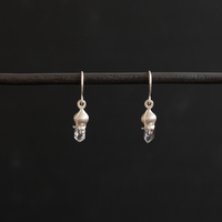 フタバアオイ silver pierce (水晶) typeD