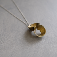 pump (L) brass necklace -無地-