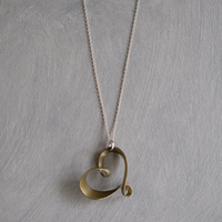 romana brass necklace