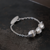 アサツキのつぼみ  Silver Bracelet