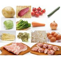 【基本セット】定番&旬野菜・卵10品以上+国産銘柄豚肉・鶏肉200-300g