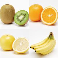 朝フルーツセット(バナナ/キウイ/グレープフルーツ/オレンジ))