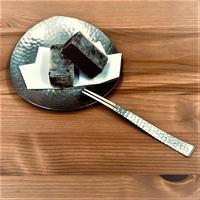 ステンレス槌目小皿 フォークセット