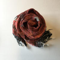 tamaki niime  roots shawl MIDDLE cotton B・レッド×オレンジ系
