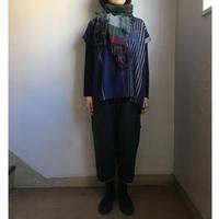 tamaki niime   only one fuwa-T short   cotton 100%   ネイビー×イエロー系