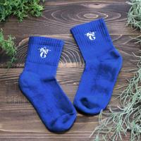 【共感価格】TSU.NA.GU.ロゴ刺繍 本藍染めオーガニックコットンパイルソックス レディス