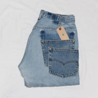 KNIFEWING USA 501 TUCK TAPERED WIDE PANTS 2 BLUE M ③