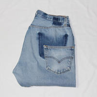 KNIFEWING USA 501 TUCK TAPERED WIDE PANTS BLUE M③