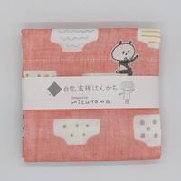 mizutama 白雪友禅はんかち パンツ柄(レッド)