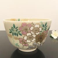 京焼 抹茶碗 藤桜 香菊