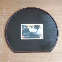 日本製 半月両面懐盆 36cm 紀州塗