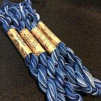 藍染 こぎん刺し糸 グラデーション 10本撚と 8本撚りがあります