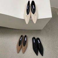 【20AW】Stitch Flat Pumps 1-166-12