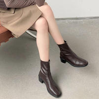 Zipper Short Boots【1-9980-1】