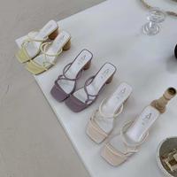 【Last1】Woodheel sandal #1-36-12