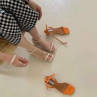 【 last1 】Strap Heel Sandal 1-G52-1