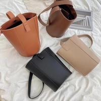 Leather Bucket Bag【3-B7103】