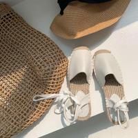 Jute Laceup Sandal 1-328-1