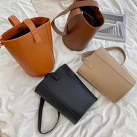 Lether Bucket Bag 3-Baaa