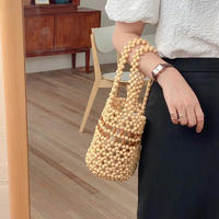 Wood Beads Baketsu Bag 3-B5119