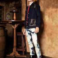 オリジナルJOHN Tears of swan × Original John BLEACHED SKINNY PANTS BLUE