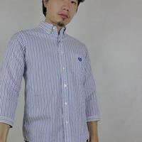 ネバートラスト Solid Stripe 7分袖BDシャツ