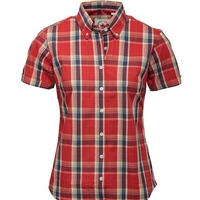 RELCO LADIES BURNT ORANGECHECK SHIRT