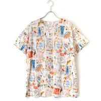 【'21春夏新作】半袖Tシャツ【100双天竺・ハッピープレイス】6275
