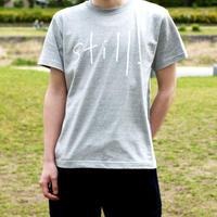 「still. 」Tシャツ / グレー