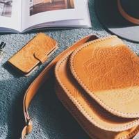 Mandala Leather Shoulder Bag