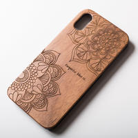 "Wooden iPhone Cover ""MANDALA"""