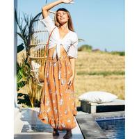 Flolal Maxi Skirt
