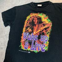 USED!一点物ビンテージ古着『BOB MARLEY T-SHIRTS WAKE UP& LIVE』◉TURTLE MAN's CLUB 防水ステッカー付き