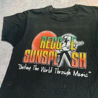 USED!一点物ビンテージ古着『REGGAE SUNSPLASH 1991 T-SHIRTS(激レア当時物)  』◉TURTLE MAN's CLUB 防水ステッカー付き