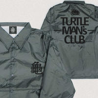 数量限定ONE SIZEのみ  TURTLE MAN's CLUB  COACH JACKET(コーチジャケット)   【CHARCOAL/BLACK】