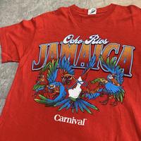 USED!一点物ビンテージ古着『OCHORIOS JAMAICA T-SHIRTS RED CARNIVAL』◉TURTLE MAN's CLUB 防水ステッカー付き