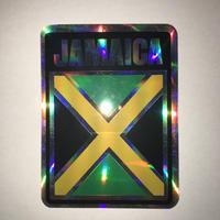 ジャマイカ  ジャマイカ国旗 フラッグ ステッカー キラ ※数量限定