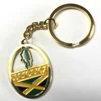 ジャマイカ直輸入  ゴールド ジャマイカキーホルダー