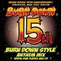 BURN DOWN「 BURN DOWN STYLE 15th ANNIVERSARY ANTHEM MIX -100% DUB PLATES MIX-」