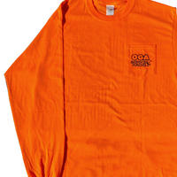 OGA [JAH WORKS] / OGA WORKS RADIO LONG SLEEVE T-SHIRT《ORANGE》