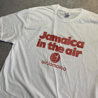 USED!一点物ビンテージ古着『AIR JAMAICA T-SHIRTS WHITE 』◉TURTLE MAN's CLUB 防水ステッカー付き