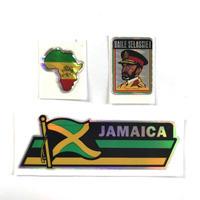 ジャマイカ直輸入 ステッカー キラ 3枚セット JAMAICA、アフリカ、セラシアイセット※数量限定