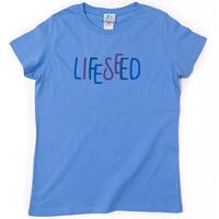 【LIFE SEED】 LOGO T-SHIRTS(OCEAN)  ※LADIES